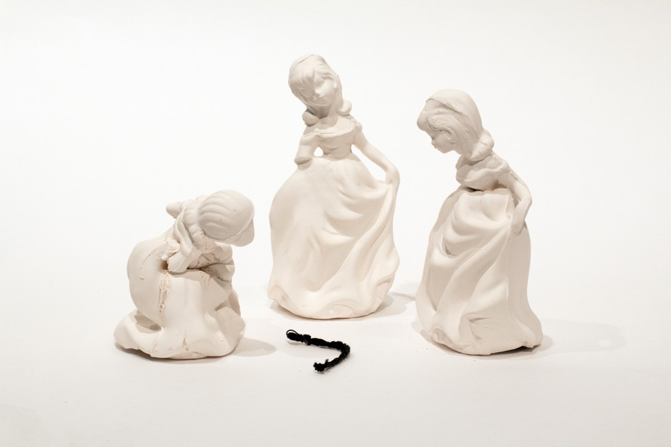 Three blind girls