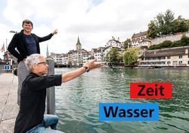 Wasser und Zeit im Gespräch: Thomas Marti und Ernst Bromeis.