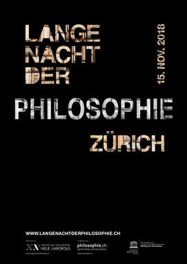 Plakat der Langen Nacht der Philosophie 2018.