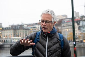 """In guter Erinnerung: die gemeinsame Passage mit Ernst Bromeis anlässlich """"Der langen nacht der Philsophie 2018"""" in Zürich"""