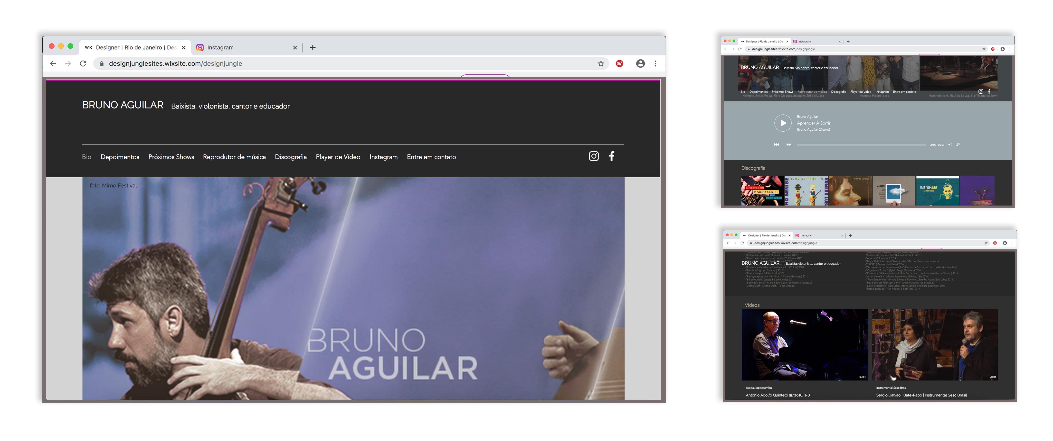 Site músico BrunoAguilar