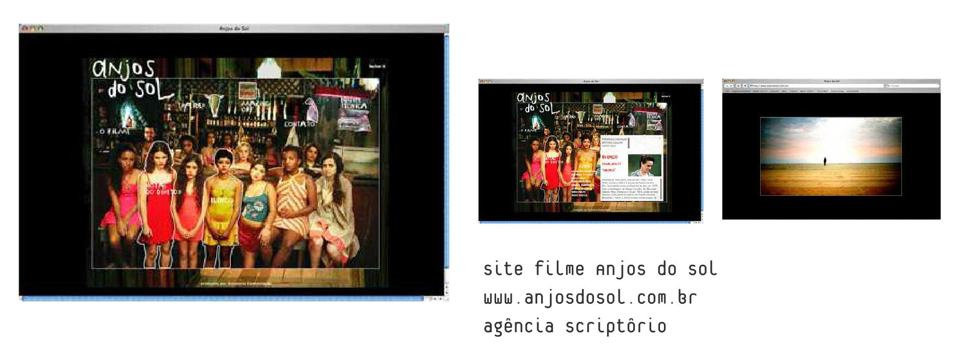 Site Filme Anjos do Sol