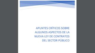 Aspectos críticos de la nueva LCSP