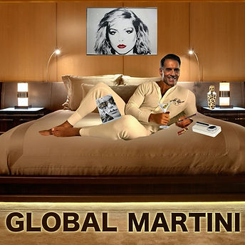 A modern tastemaker for the sophisticated  - yet casual -  cocktail lifestyle.  An adventure is always on the horizon with GLOBAL MARTINI, especially with an Andy Warhol portrait, Debbie Harry's autobiogrpahy and a dry, vodka martini.