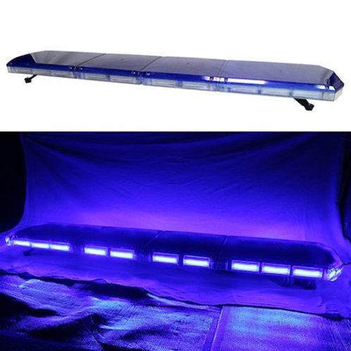 全長150cm LED 回転灯 パトライト ラウンドタイプ【ブルー】