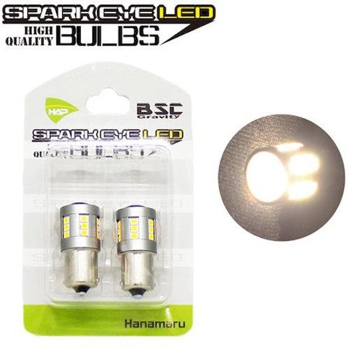 スパークアイLEDバルブ 電球色(ハロゲン) S25 コンパクトボディに24LED & 魚眼レンズ搭載!
