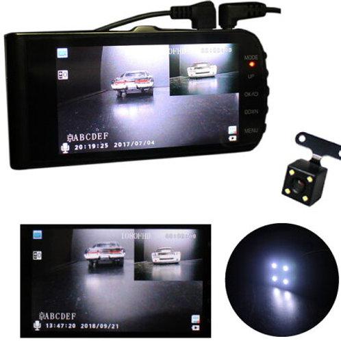 ドライブレコーダー 4インチモニタータイプ バックカメラ付