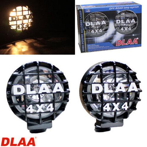 汎用 丸型 フォグランプ クリア ガラスレンズ DLAA LA-921BB 168 × 196 × 142mm 左右セット プラスチックカバー付