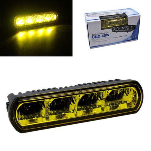 汎用 LEDライトバー イエローレンズ 4LED・40w UNO40W