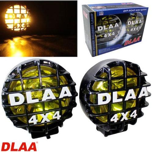 汎用 丸型 フォグランプ イエロー ガラスレンズ DLAA LA921BB 168 × 196 × 142mm 左右セット プラスチックカバー付