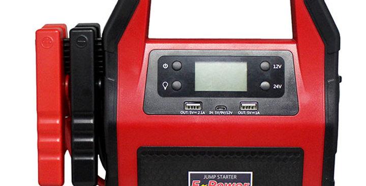 E-Power ジャンプスターター 12V / 24V兼用 45,000mAhの大容量! 最大電流1500A!