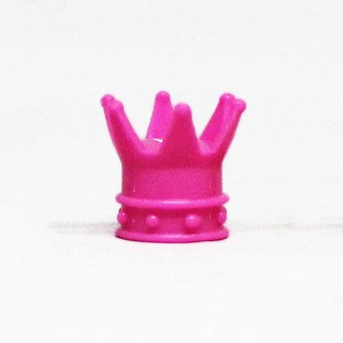 エアーバルブ 王冠 1個 ピンク