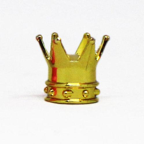 エアーバルブ 王冠 1個 ゴールド