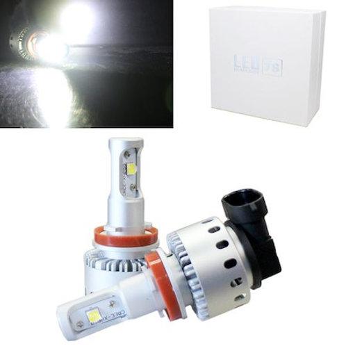 ★ファン一体型★ LEDヘッドライト H8 / H11 / H16 コンパクトタイプ 12~24V対応 6000Lm 6500K