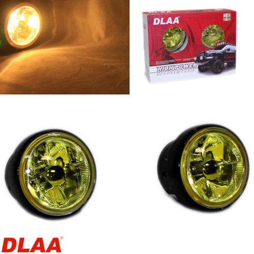 汎用 丸型フォグランプ イエロー ガラスレンズ DLAA LA-1500X 90φ × 70mm 左右セット
