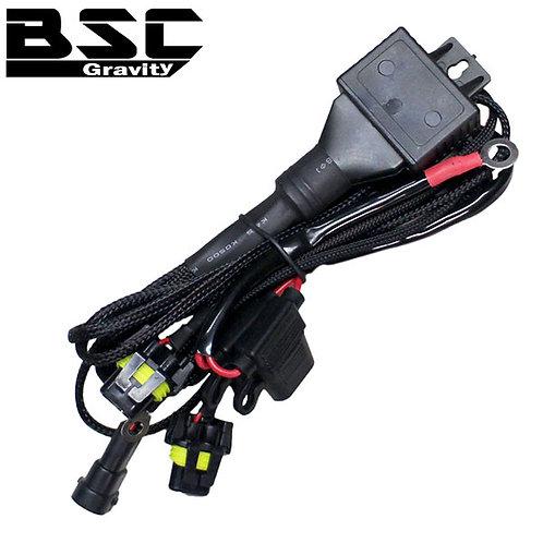 HID用シングル バッテリー直付け電源強化リレー HB4 H8