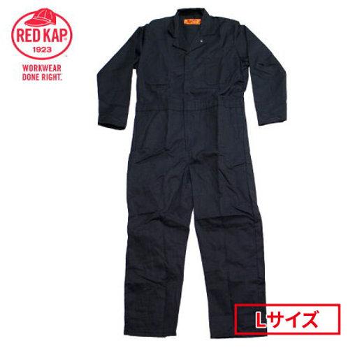 【アウトレット】人気商品・残りわずか! REDKAP レッドキャップ 長袖 つなぎ CT10BK2 ブラック  Lサイズ