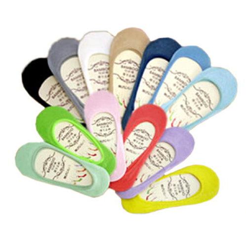 カラーフットカバー パンプスイン【全10色】 フリーサイズ(23~25 cm) 選べるカラフルな13色 滑り止めシリコン付きで脱げにくい!