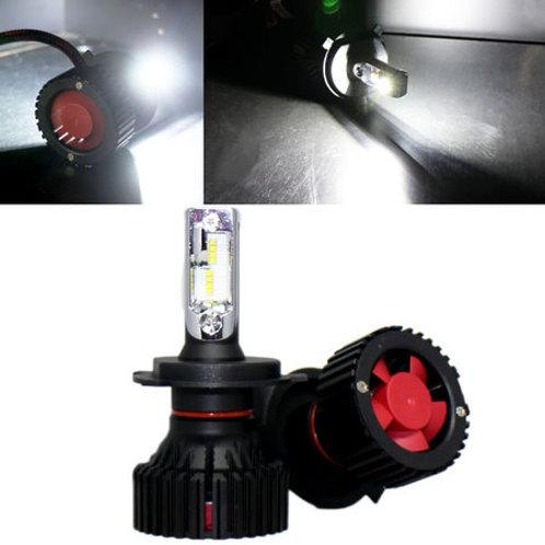 LEDヘッドライト H4 Hi/Lo 12v/24v 6500K 4000lm ファン内蔵一体型