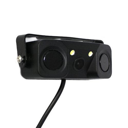 3in1 バックカメラ + LEDライト + バックセンサー