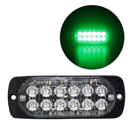 LEDストロボライト 超薄型タイプ 【グリーン】 厚さわずか10mm! LED12個使用 点灯パターン16種類!
