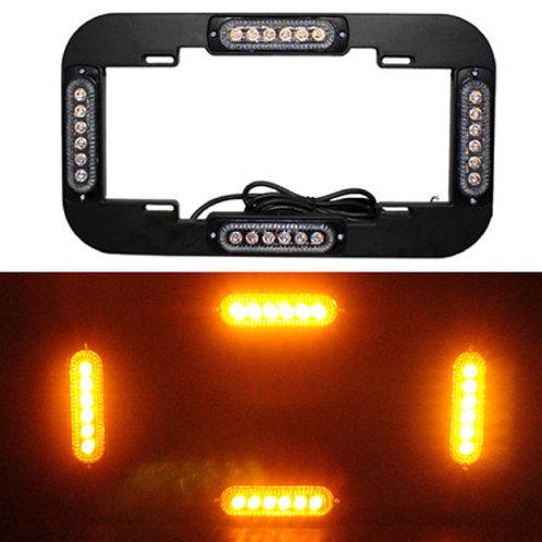 汎用 フレーム型 LED ストロボライト アンバー