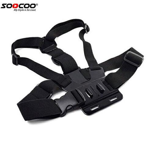 SOOCOO アクションカメラ用チェストストラップ アクションカメラを胸に取り付け! 登山、スノボー、ダイビングに! Go Proなど他社製品にも対応!