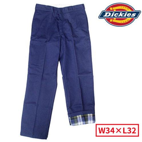 Dickies 2874 NV(ネイビー) ディッキーズ ワークパンツ 裏地フランネルタイプ W34×L32
