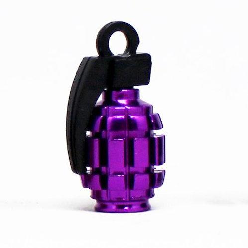エアーバルブ 手榴弾 1個 パープル