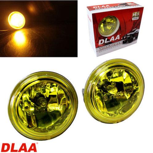 汎用 丸型フォグランプ イエロー ガラスレンズ DLAA LA724  82 × 57mm 左右セット