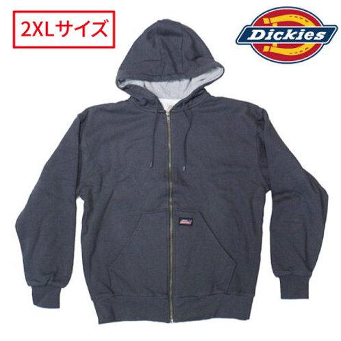 アウトレット Dickies NW303 CH(チャコール) ディッキーズ ジップアップ パーカー 2XLサイズ