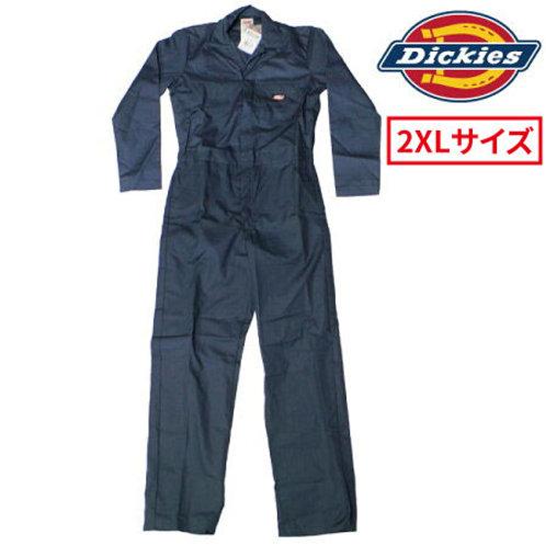 アウトレット 大人気 Dickies ディッキーズ 長袖 つなぎ GV44999DN ダークネイビー 2XLサイズ 薄手生地