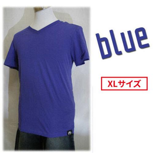 【アウトレット】NIKE ナイキ 464829 AIR FORCE1 VネックTシャツ 半袖 エアフォース1 タグ付きTシャツ ブルー XLサイズ
