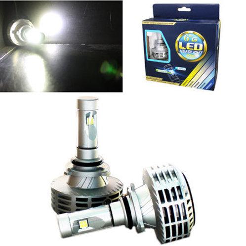 ★取付け簡単★ LEDヘッドライト HB3/HB4(9006/9005) ファンレス一体型 12~24V対応 3000Lm