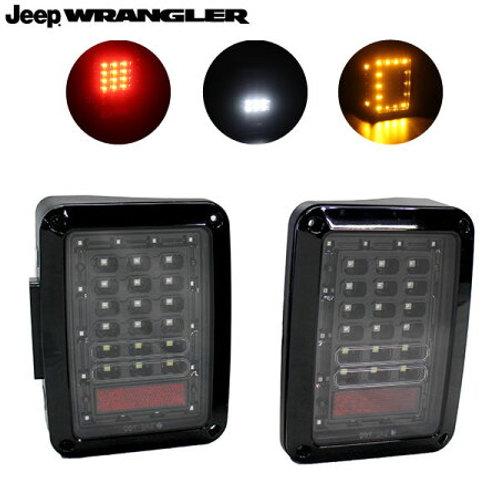ジープ・ラングラー JK用 ブラック LED テールランプ AS-AC-91160