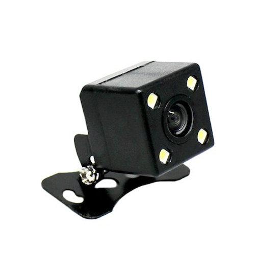 バックカメラ 四角型 LEDライト付 CCDセンサー・170°レンズ 正像 or 鏡像切替 ガイドライン ON or OFF 切替 機能付