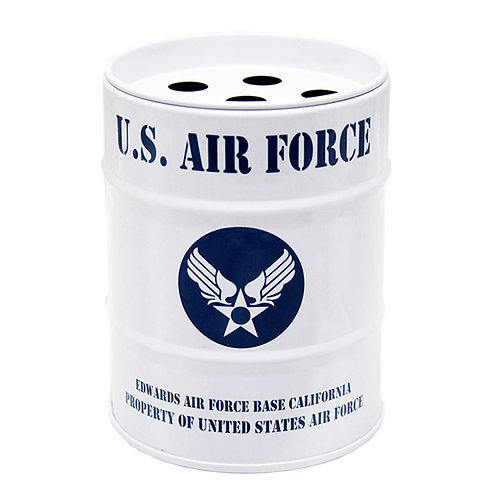US風 缶灰皿 AIR FORCE ミニチュアのドラム缶型!