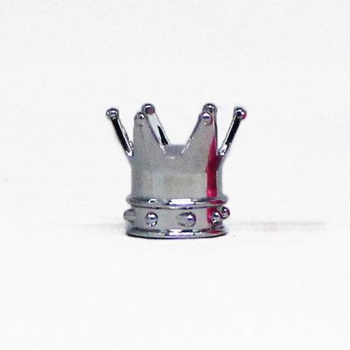 エアーバルブ 王冠 1個 シルバー