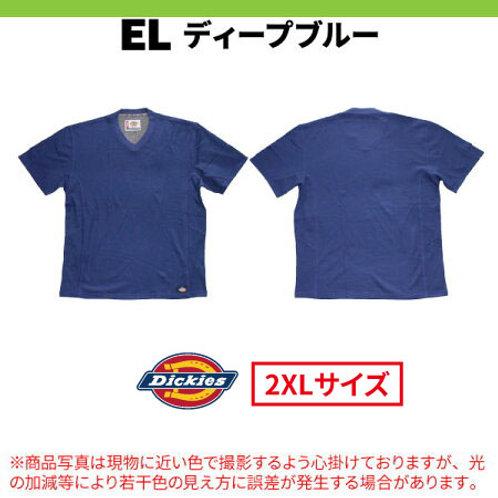 ディッキーズ 半袖Vネック メッシュTシャツ Dickies WS424 ディープブルー 2XLサイズ