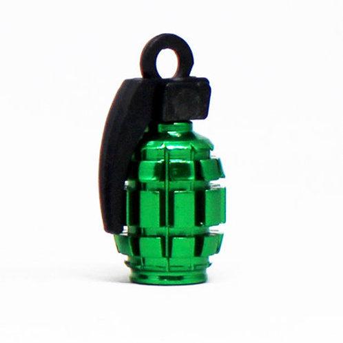 エアーバルブ 手榴弾 1個 グリーン