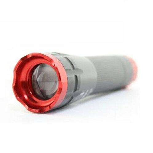 充電式懐中電灯 アルミ型ハンディライト 自転車対応 赤 災害 充電式 COB LED懐中電灯 防災グッズ アウトドア