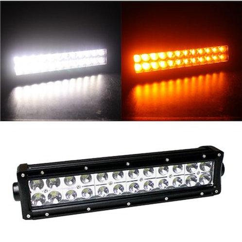 汎用 LEDワークライト 72W 14インチ ツインカラー リモコンタイプ ホワイトとアンバー