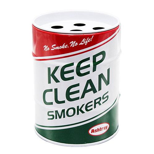 US風 缶灰皿 KEEP CLEAN ミニチュアのドラム缶型!