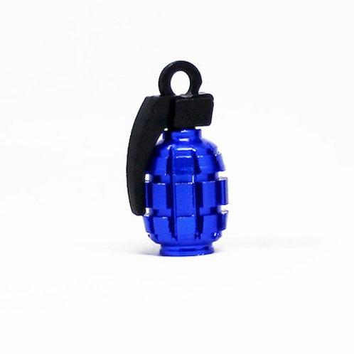 エアーバルブ 手榴弾 1個 ブルー
