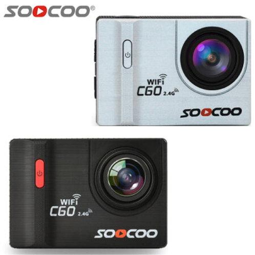 SOOCOO C60 アクションカメラ 4K撮影 170°広角レンズ搭載! 30m防水・自転車マウント付で、撮影シーンを選ばない! ドラレコモードも搭載!