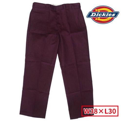 Dickies WP874 MR(マルーン)  ディッキーズ ワークパンツ フラットフロント W38×L30