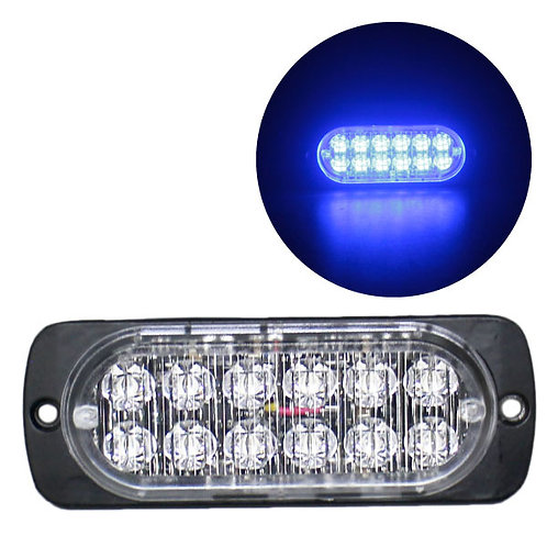 LEDストロボライト 超薄型タイプ 【ブルー】 厚さわずか10mm! LED12個使用 点灯パターン16種類!