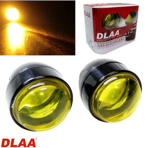 汎用 丸型フォグランプ イエロー ガラスレンズ DLAA LAV117 70.5φ × 90mm 左右セット