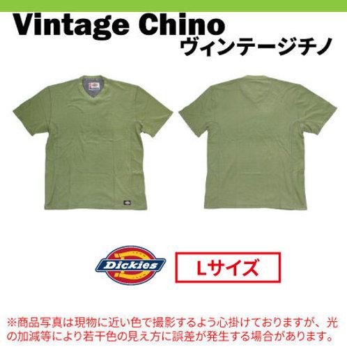 ディッキーズ 半袖Vネック メッシュTシャツ Dickies WS424 ヴィンテージチノ Lサイズ