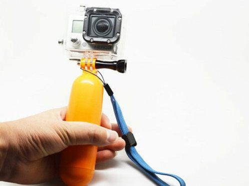 """SOOCOO アクションカメラ用フロートグリップ グリップが""""浮き""""にもなる! 手を放してしまっても、黄色いボディが超目立つ! 水上撮影での必需品!"""